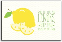 Lemon Lemons Inspirational Paper Print (Yellow)