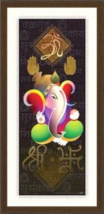 Luxaim Posters Delightful Ganesha Frame By Returnfavors. Canvas Art