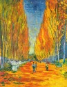 L'Allee Des Alyscamps By Van Gogh Fine Art Print - Large