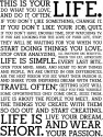 This Is Your Life Poster - Small