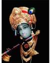 3D Photo Black Krishna Fine Art Print - Medium