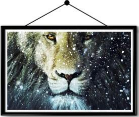 Wildlife Lion framed posters Paper Print