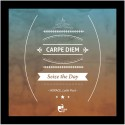 Carpe Diem (seize The Day) - Horace, Latin Poet Framed Poster Poster - Small