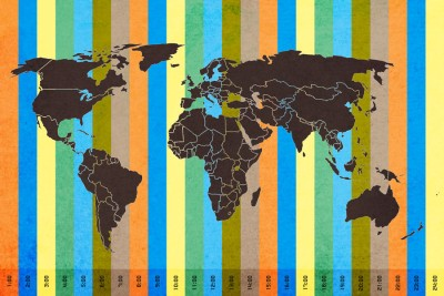 World map with color time zone paper print for rs 169 at flipkart gumiabroncs Image collections