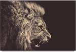 ShopMantra Posters Roaring Lion Laminated Poster Paper Print