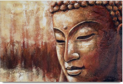 ShopMantra Posters Buddha Grunge Artwork Design Laminated Poster Paper Print