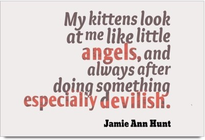 iMerch Kittens Look At Me Quotes By Jamie Ann Hunt Poster available at Flipkart for Rs.295
