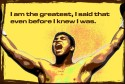 Ali - I Am The Greatest - Yellow Paper Print - Small, Rolled