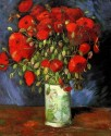 Vase With Red Poppies Small By Van Gogh Canvas - Small