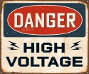 Danger High Voltage Paper Print - Small, Rolled