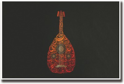 Artifa Posters Guitar Fine Art Print