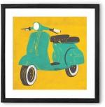 Chumbak Posters Scooter Fine Art Print