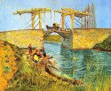 The Langlois Bridge At Arles Small By Van Gogh Canvas - Small