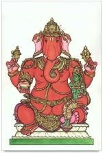 ShopMantra Posters Ganesha Artwork Design Laminated Poster Paper Print
