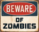 Beware Of Zombies Paper Print - Small, Rolled