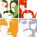 Beatles Sea Of Color Paper Print - Medium, Rolled
