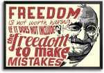ShopMantra Posters Mahatma Gandhi freedom Quote Laminated Frame Poster Paper Print