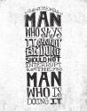 The Man Fine Art Print - Medium