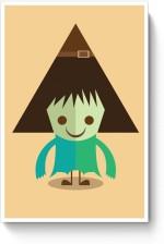PosterGuy Posters Funny Halloween Characters Paper Print