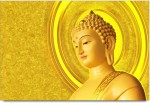 RangeeleInkers Posters Buddha Golden Statue Graphic Design Laminated Poster Paper Print