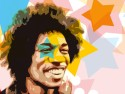 Jimi Hendrix - Star Paper Print - Medium, Rolled