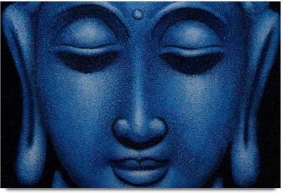 ShopMantra Posters Buddha Blue Matte Artwork Laminated Poster Paper Print