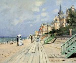 Art Emporio Posters Beach at trouville Medium by Monet Fine Art Print