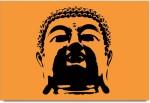 ShopMantra Posters Buddha Minimal Art Design Laminated Poster Paper Print
