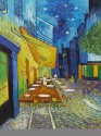 Cafe Terrace At Night By Vincent Van Gogh Fine Art Print - Medium