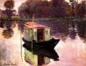 The Studio Boat Medium By Monet Fine Art Print - Medium