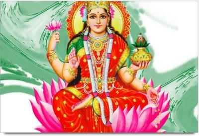 RangeeleInkers Posters Goddess Lakshmi Statue Design Laminated Poster Paper Print