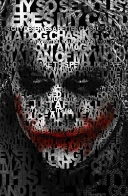 Da Vinci Posters Posters Da Vinci Posters Dark Knight Joker Quote Poster Fine Art Print