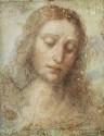 Head Of Christ By Leonardo Da Vinci Fine Art Print - Medium