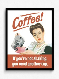 bCreative I drink coffee because I need it (Officially Licensed) Framed Paper Print