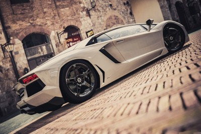 Lamborghini Lamborghini Gallardo White Poster Paper Print
