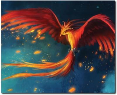69 off on stybuzz phoenix bird painting art frameless canvas art on