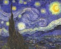 Starry Night Small By Van Gogh Fine Art Print - Small
