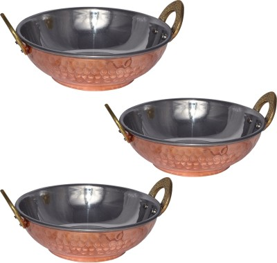 Stainless Steel Kadhai 0.46 L (Pack of 3)