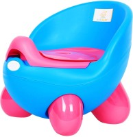 Ole Baby Adaptable Portable Chair Durable Wester Styl WC For Baby/Kids Anti Skid Material With Removable Box Potty Box (Blue)