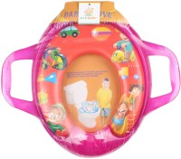 Ole Baby Jumbo Soft Cushion Picnic Potty Trainer Seat Assorted Potty Seat (Pink, Red)
