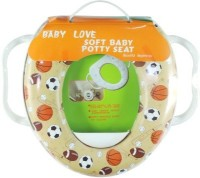 Babyofjoy Soft Baby Sports Prints With Side Handle Potty Seat (Multicolor)