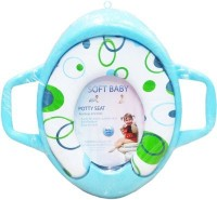 Babyofjoy Soft Baby Bubble Prints With Side Handle Potty Seat (Multicolor)