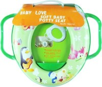 Babyofjoy Soft Baby PenguinGuitar Prints With Side Handle Potty Seat (Multicolor)