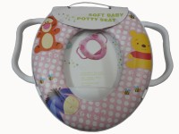 Babyofjoy Soft Baby Dot Dot With Caracter Print With Handle Potty Seat (Multicolor)