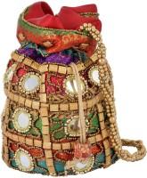 HanumantCreations Pouch Potli Bags Potli Multicolor, Gold