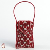 Aapno Rajasthan Sparkling Cover Mobile Pouch Red
