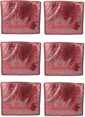 Annapurna Sales Maroon Small Satin Saree Cover - Set Of 6 Pcs. Pouch Maroon