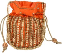 HanumantCreations Pouch Potli Bags Potli Red, Orange, Pink, Cream, Multi Color
