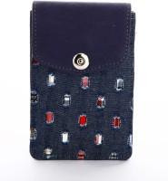 LadyBugBag Designer Grey Demin Mobile Pouch Grey