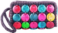 Bag Cottage Industries Traditional Women's Shiny Fashionable Evening Party Wear Color Hand Pouch Multicolor